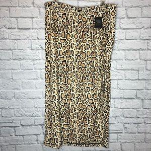 Lane Bryant Leopard Maxi Skirt 22/24